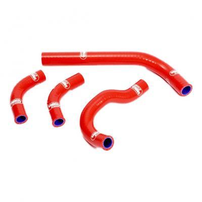 Durites de radiateur Samco Sport type origine Honda CRF 250R 04-09 rouge (4 durites)