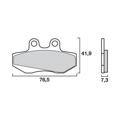 Plaquettes de frein Brembo carbone-céramique 07GR1406