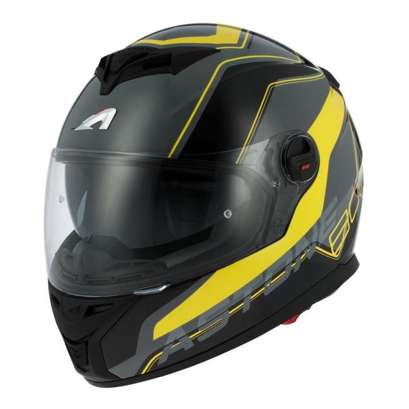 Casque intégral Astone GT800 exclusive WIRE noir/jaune