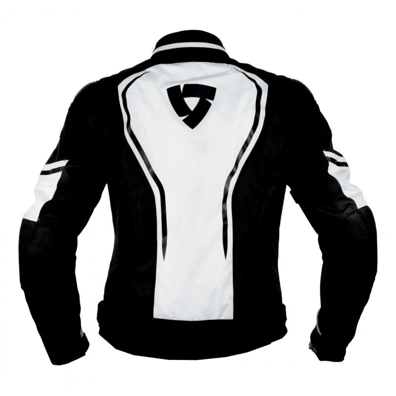 Blouson textile Rev'it Vertex blanc/noir - 1