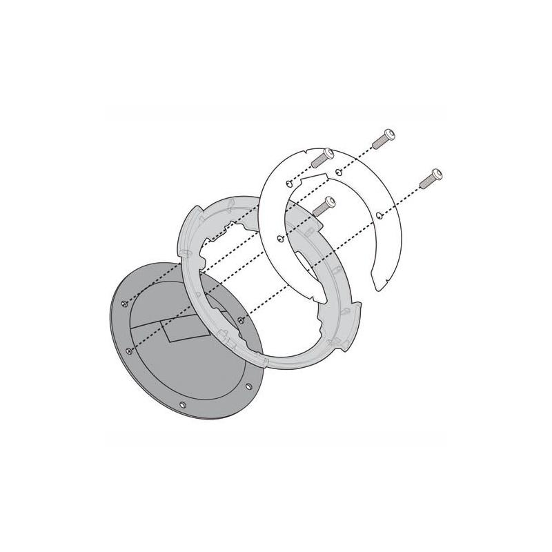 Bride métallique Givi pour fixation Tanklock Kawasaki ER 6N / ER 6F 650 05-08