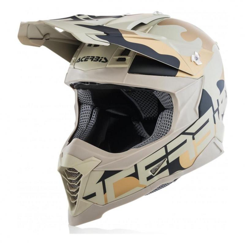 Casque cross Acerbis Impact X-Racer VTR camouflage/marron
