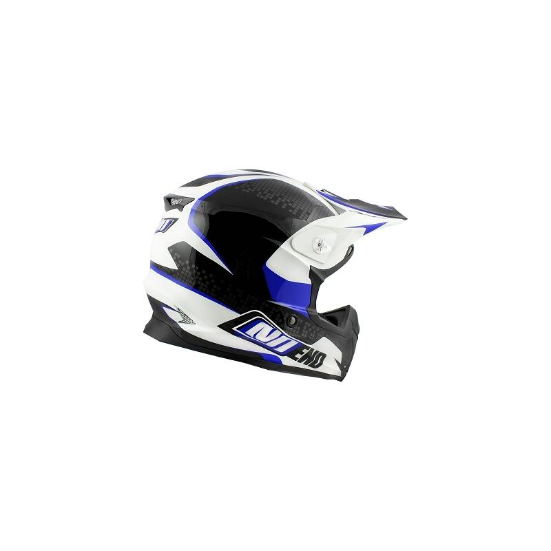 Casque cross Noend Defcon By OCD TX696 blanc/bleu - 1