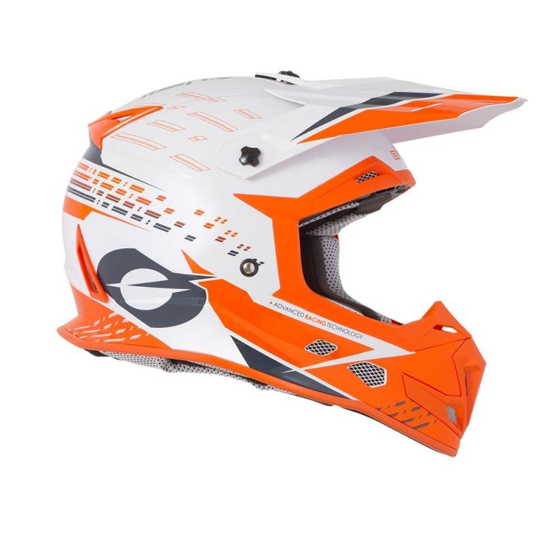 Casque cross O'Neal 5SRS Trace blanc/orange - 3