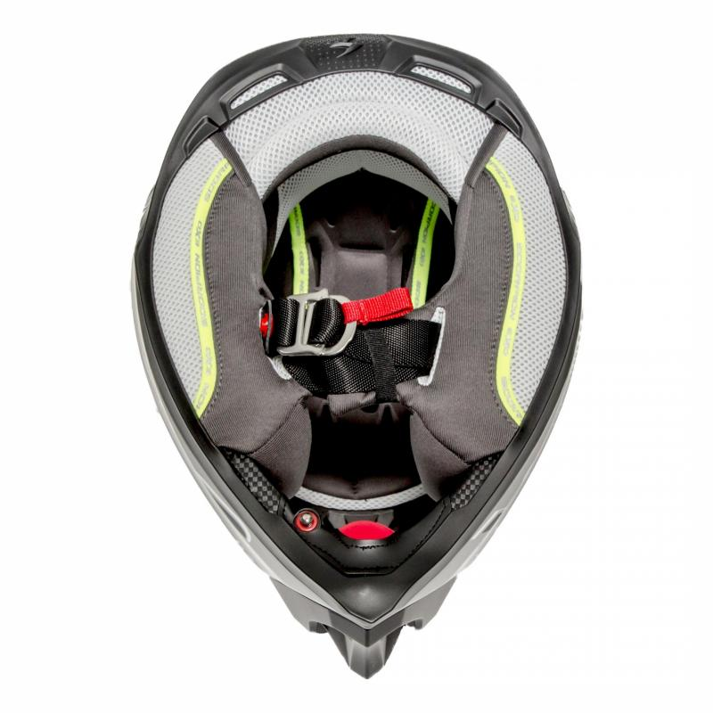 Casque cross Scorpion VX-16 Air Arhus Mat argent/noir/jaune fluo - 5