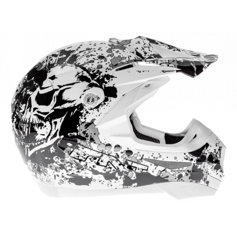 Casque cross TNT helmets dead head - 2