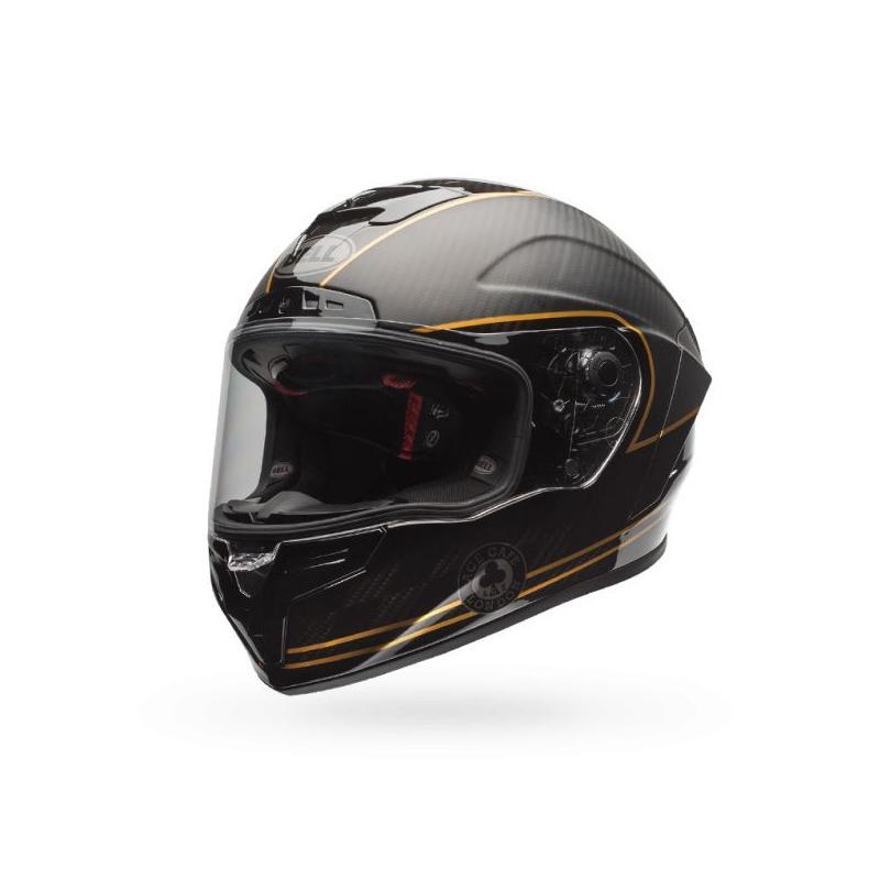 Casque intégral Bell Race Star Speed Check noir mat/or - 1
