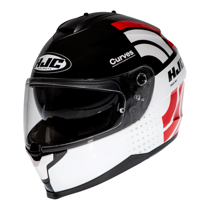 Casque intégral HJC C70 Curves MC1 blanc/noir/rouge