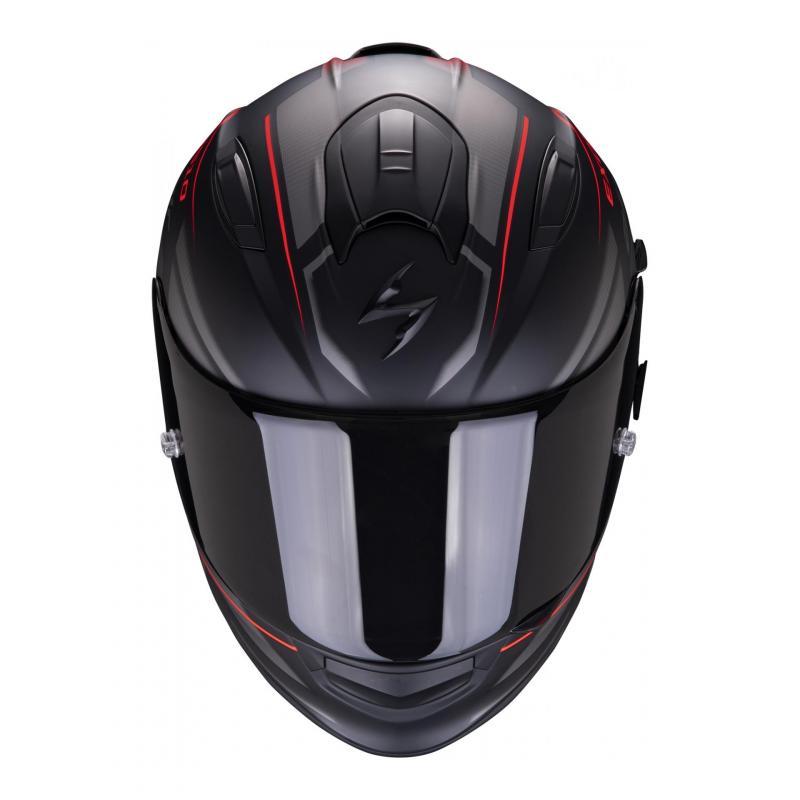 Casque intégral Scorpion Exo-510 Air Ferrum noir/argent/rouge mat - 2
