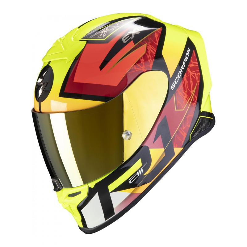 Casque intégral Scorpion Exo-R1 Air Infini noir/rouge/jaune neon