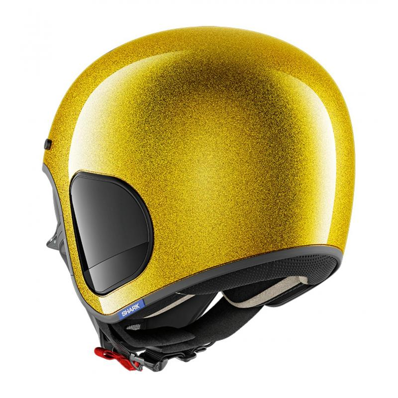 Casque jet Shark S-Drak Blank Glitter or - 1