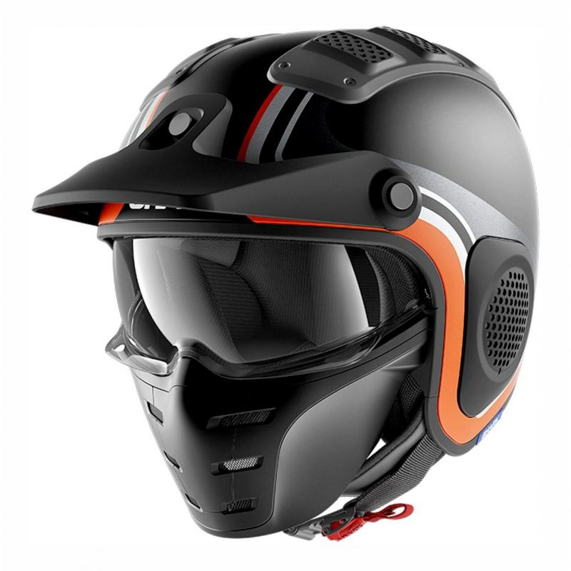 Casque jet Shark X-Drak Hister Mat anthracite/noir/orange