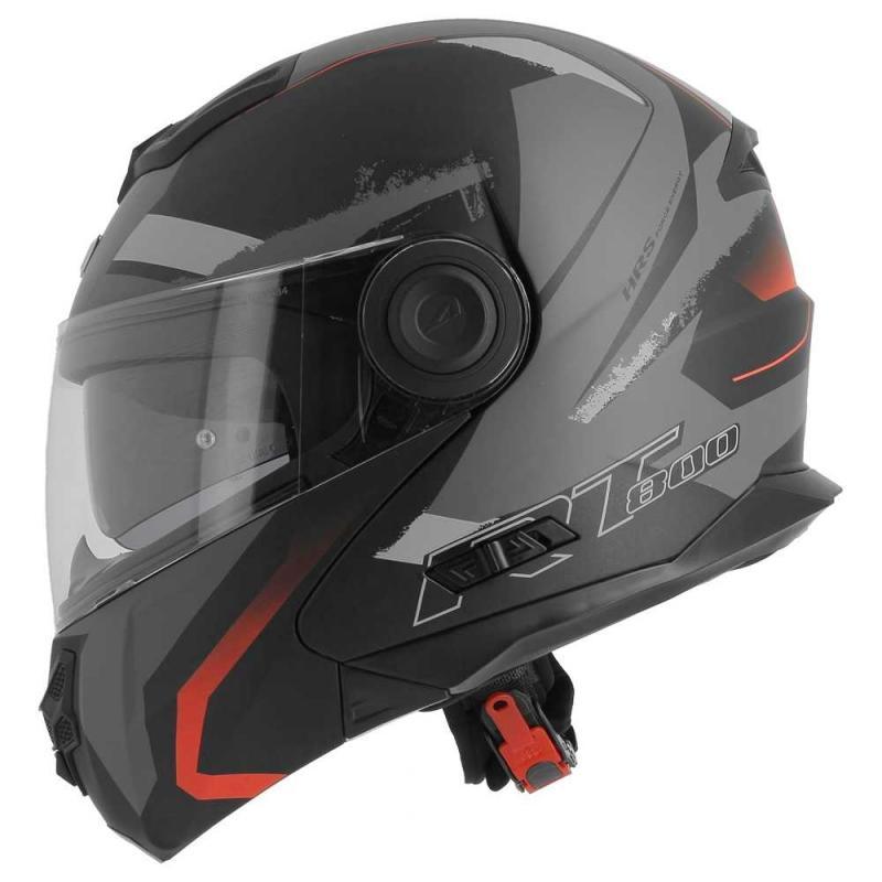 Casque modulable Astone RT800 exclusive ENERGY mat noir/rouge - 1
