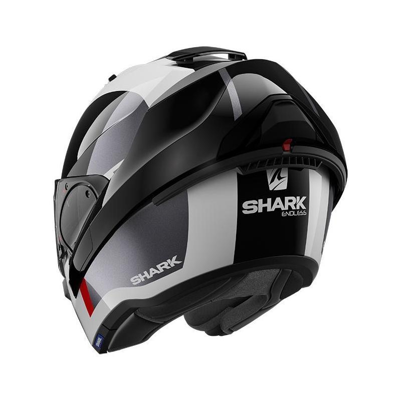 Casque modulable Shark EVO ES Endless blanc/noir/rouge - 2
