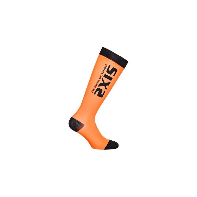 Chaussettes de compression Sixs recovery sock oranges et noires