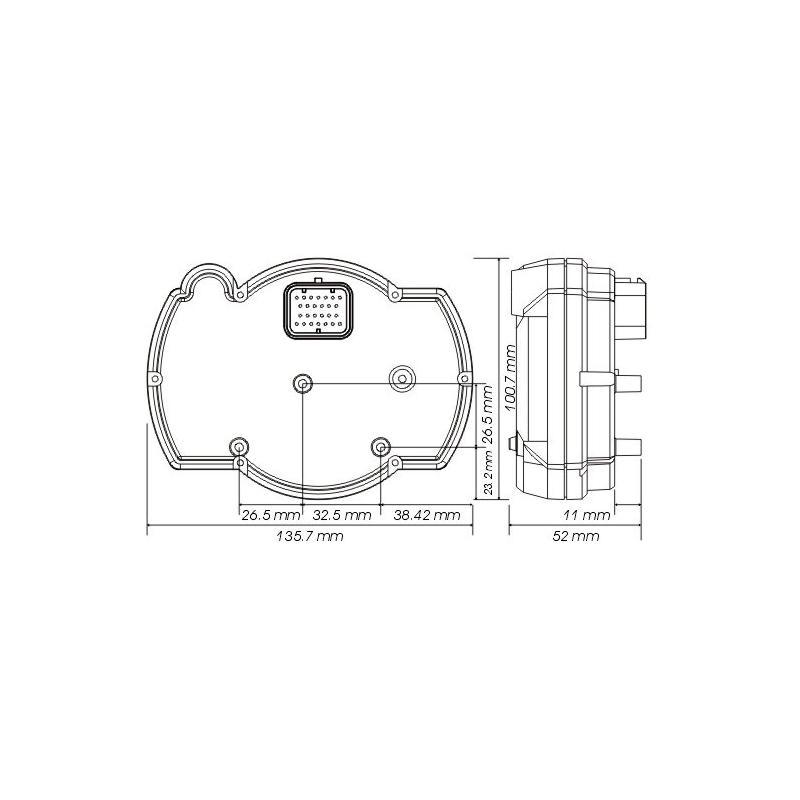 Compteur Koso RX2N+ GP Style 20 000 tr/min - 4