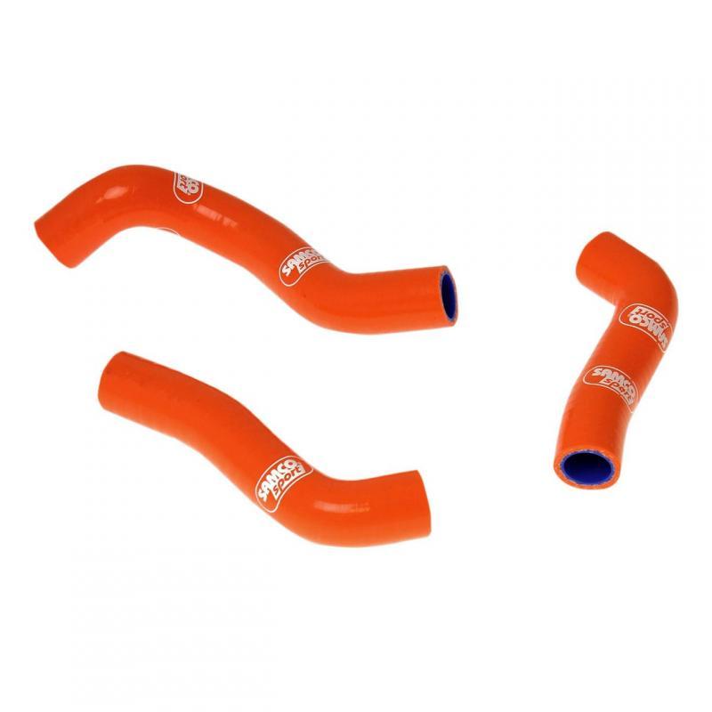 Durites de radiateur Samco Sport type origine KTM 250 SX-F 11-12 orange (3 durites)