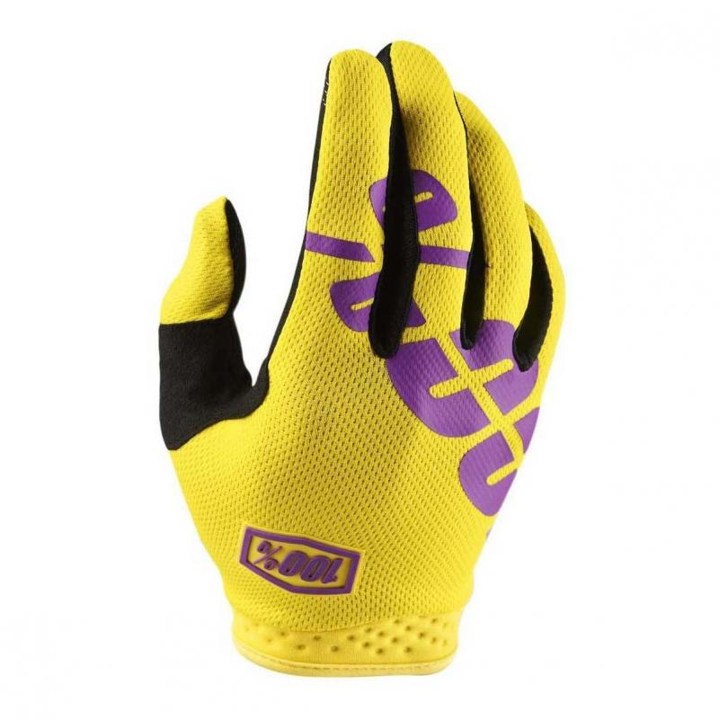 Gants cross 100% Itrack jaune