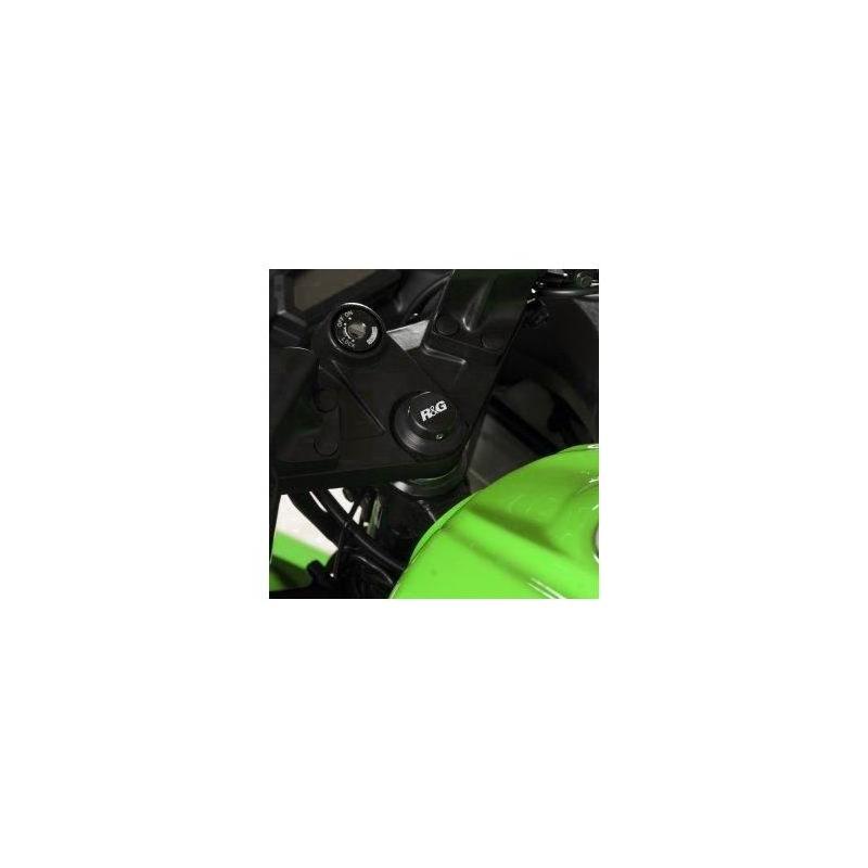 Insert écrou de direction R&G Racing noir Kawasaki Ninja 300 13-17