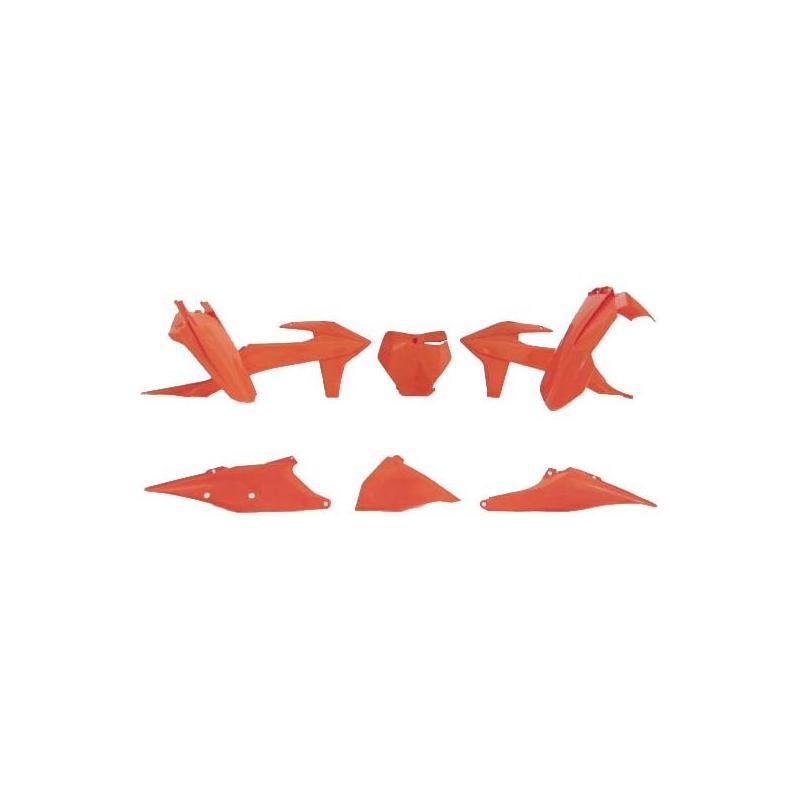 Kit plastique RTech KTM 250 SX 19-21 orange fluo