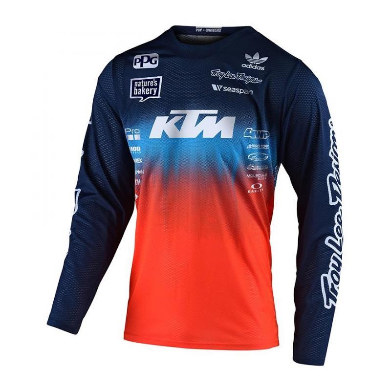 Maillot cross enfant Troy Lee Designs GP Stain'd Team KTM Bleu/orange