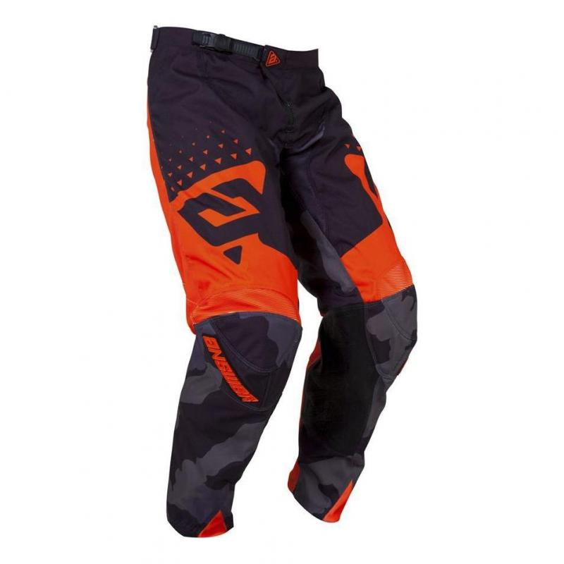 Pantalon cross Answer Elite Discord noir/orange - 1