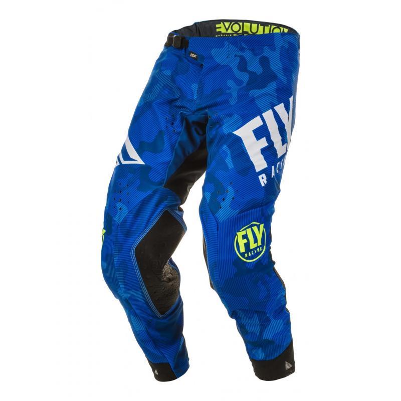 Pantalon cross Fly Racing Evolution DST Racewear bleu/blanc