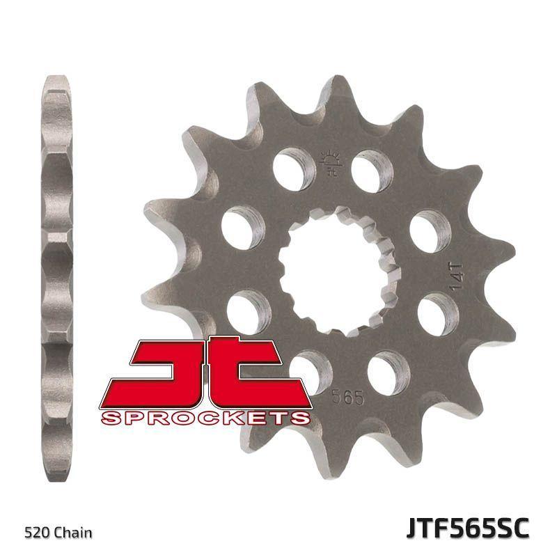 Pignon JT Sprockets Acier pas 520 14 dents - Pour Yamaha YZF-R3 15-17 Anti boue - 1