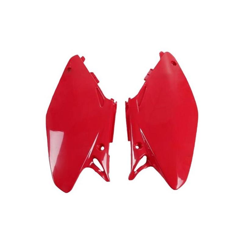 Plaque numéro latérale UFO Honda CR 250R 05-07 rouge (rouge CR 00-12)