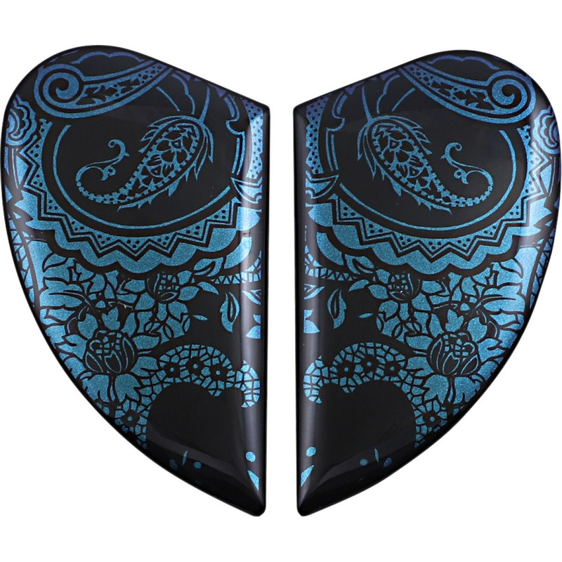 Plaques latérales Icon pour casque Airform Chantilly opale bleu/violet caméléon