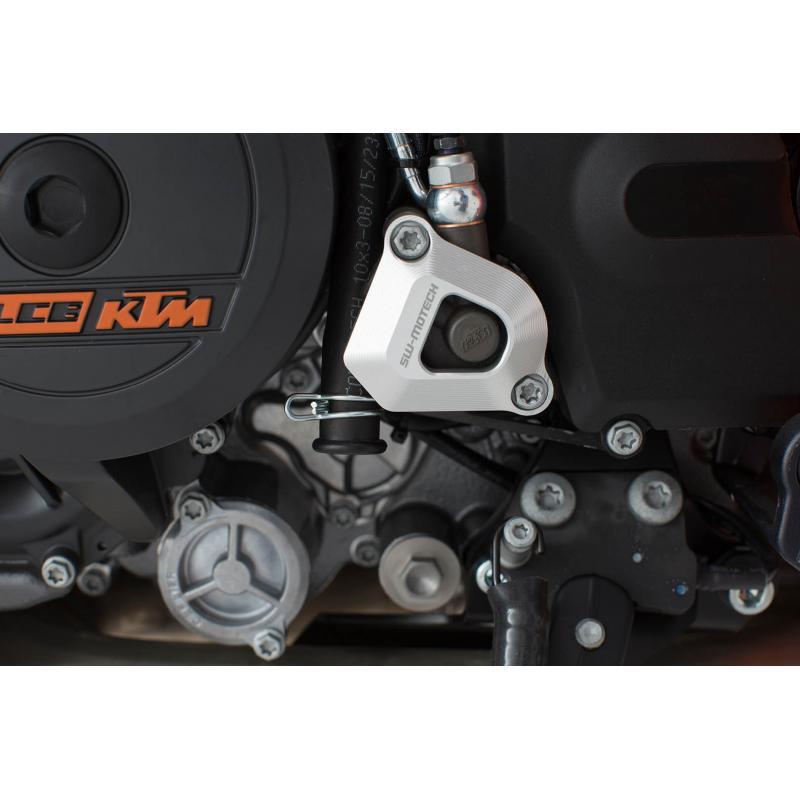Protection de récepteur embrayage SW-MOTECH gris 1050 / 1190 / 1290 Adv, 990 SMR / SMT, 1290SD - 1