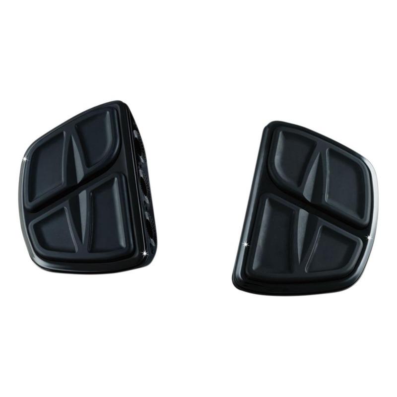 Repose pieds plateau cannelures mini pilote/passager Kuryakyn noir