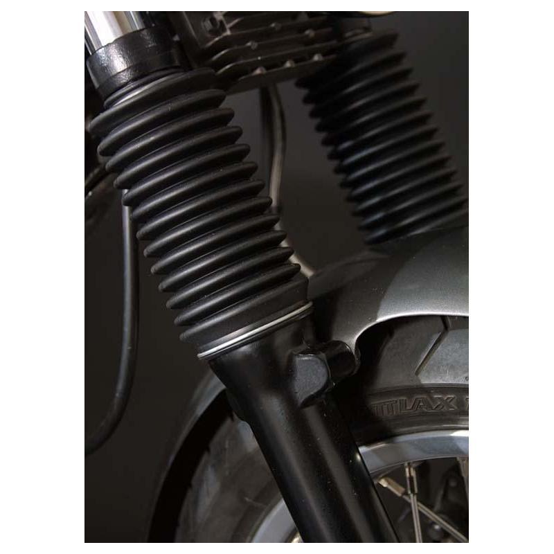 Soufflets de fourche LSL Clubman noir Triumph Bonneville 800 01-07 - 1