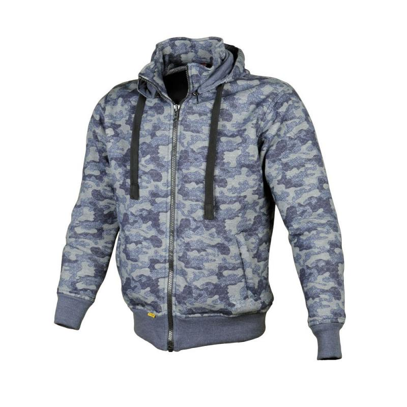 Sweat à capuche Booster Hoodie Kevlar Core camouflage bleu