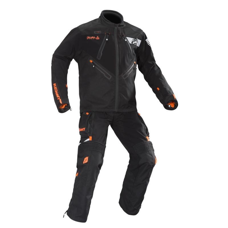Veste enduro Kenny Dual Sport noir/orange - 2