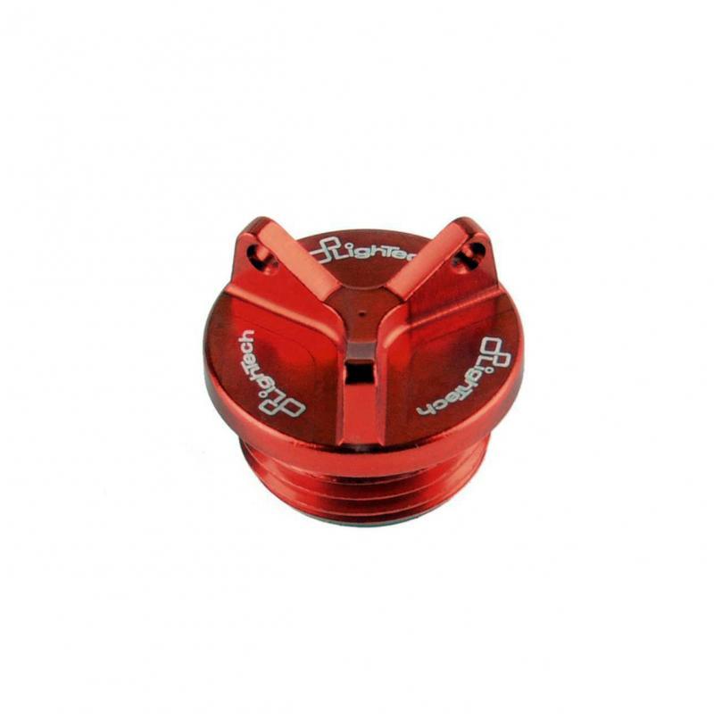Bouchon de remplissage d'huile moteur Lightech rouge Ø M24x2 mm 3 pans