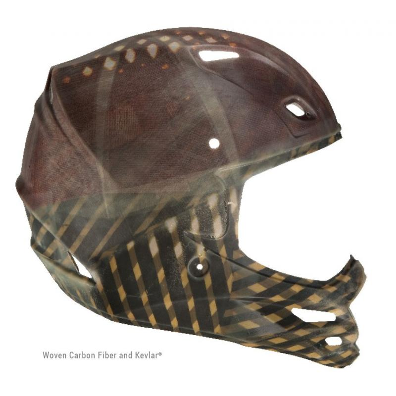 Casque cross Fly Racing F2 Carbon Forge rose/jaune/noir - 4