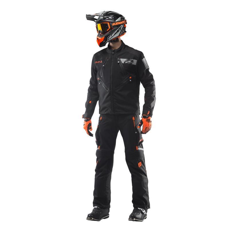 Veste enduro Kenny Dual Sport noir/orange - 3