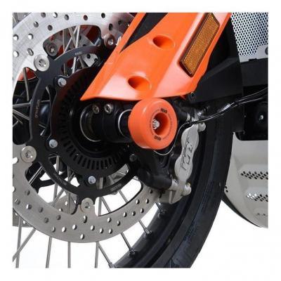 Tampons de protection de fourche R&G Racing noir KTM 790 Adventure 19-20