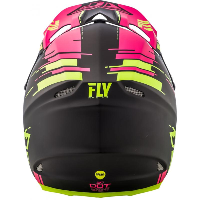 Casque cross Fly Racing F2 Carbon Forge rose/jaune/noir - 2