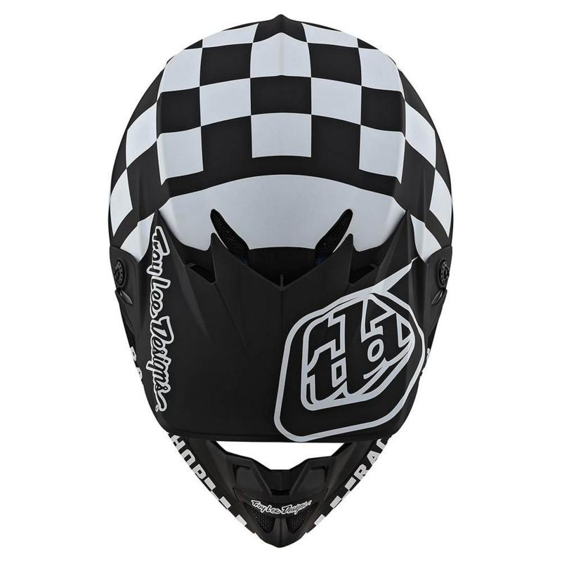 Casque cross Troy Lee Designs SE4 Polyacrylite Checker Mips noir/blanc - 4