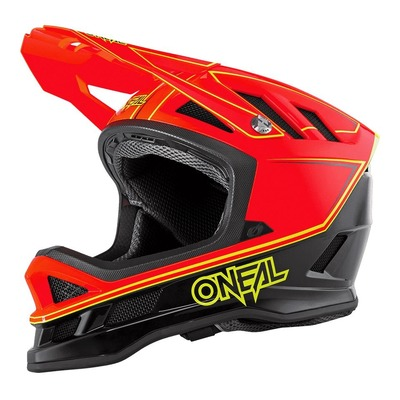 Casque vélo intégral O'Neal Blade Hyperlite Charger rouge neon