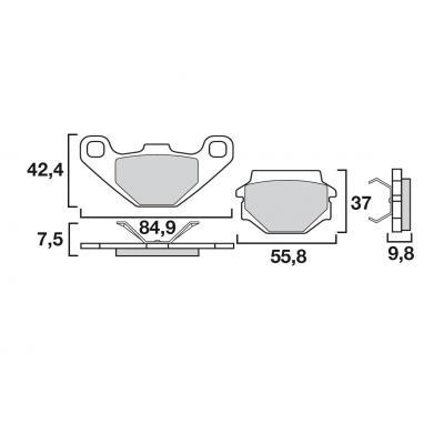 Plaquettes de frein Brembo carbone-céramique 07BB0708