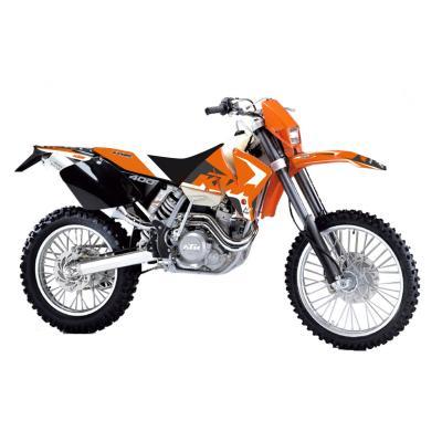 Kit déco + housse de selle Blackbird Dream Graphic 4 KTM 400 EXC 98-00 noir/orange