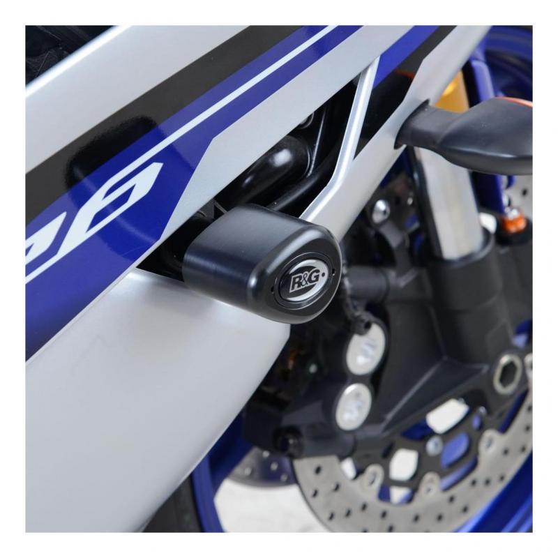 Tampons de protection supérieurs R&G Racing Aero noir Triumph Speed Triple 11-15
