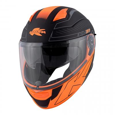 Casque modulable Kappa KV31 Arizona Bigger noir mat/orange