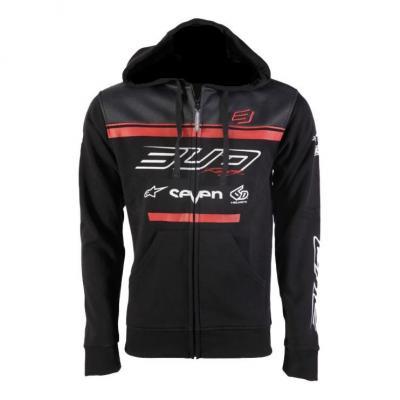 Sweat à capuche zippé Bud Racing Team 19 rouge/noir