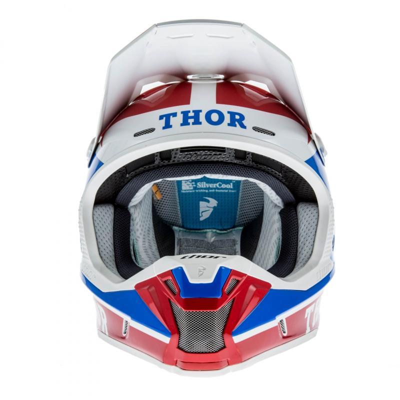 Casque Cross Thor Verge Pro Gp Bleu/Rouge - 3