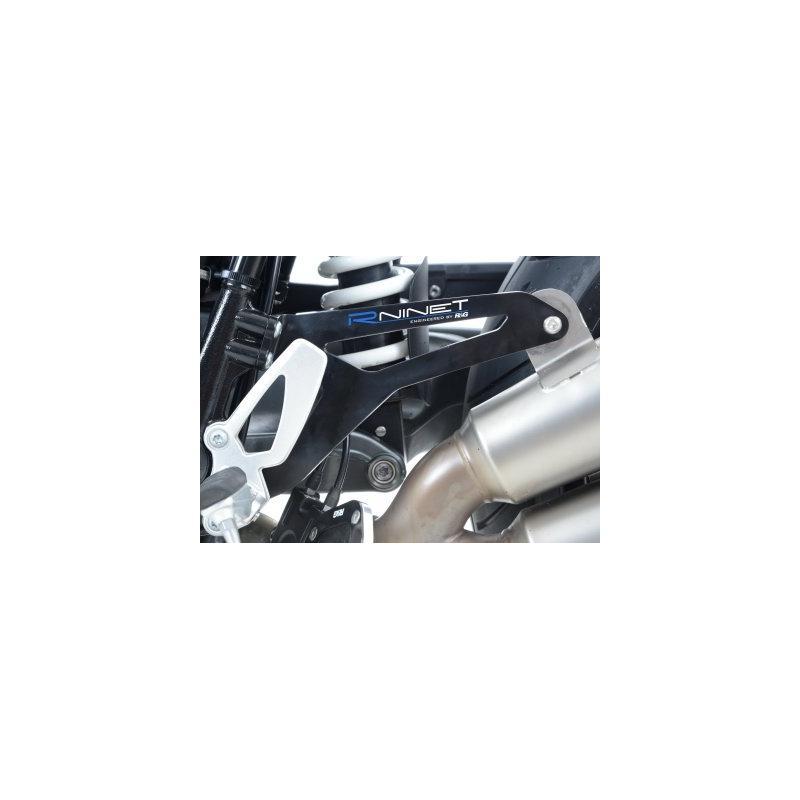 Patte de fixation de silencieux R&G Racing noire BMW R Nine T 1200 14-18