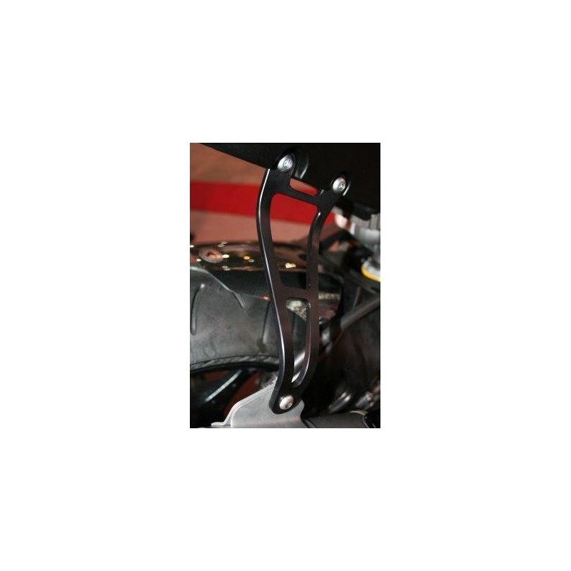 Patte de fixation de silencieux R&G Racing noire Suzuki GSX-R 1000 07-08 l'unité